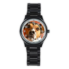 Jack Russell Terrier Stainless Steel Round Watches