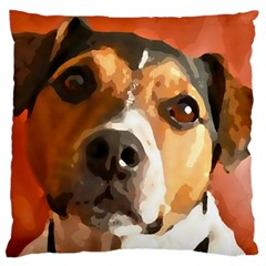 Jack Russell Terrier Large Flano Cushion Cases (One Side)