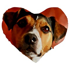 Jack Russell Terrier Large 19  Premium Flano Heart Shape Cushions