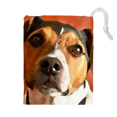 Jack Russell Terrier Drawstring Pouches (Extra Large)