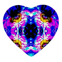 Animal Design Abstract Blue, Pink, Black Ornament (Heart)