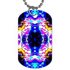 Animal Design Abstract Blue, Pink, Black Dog Tag (Two Sides)