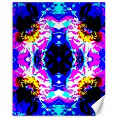 Animal Design Abstract Blue, Pink, Black Canvas 16  x 20