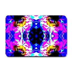 Animal Design Abstract Blue, Pink, Black Small Doormat