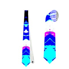 Animal Design Abstract Blue, Pink, Black Neckties (one Side)