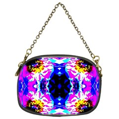 Animal Design Abstract Blue, Pink, Black Chain Purses (One Side)