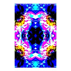 Animal Design Abstract Blue, Pink, Black Shower Curtain 48  x 72  (Small)
