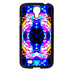 Animal Design Abstract Blue, Pink, Black Samsung Galaxy S4 I9500/ I9505 Case (Black)