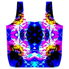 Animal Design Abstract Blue, Pink, Black Full Print Recycle Bags (L)