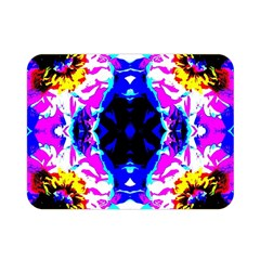 Animal Design Abstract Blue, Pink, Black Double Sided Flano Blanket (Mini)