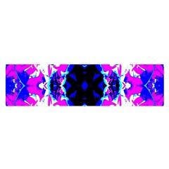 Animal Design Abstract Blue, Pink, Black Satin Scarf (oblong)