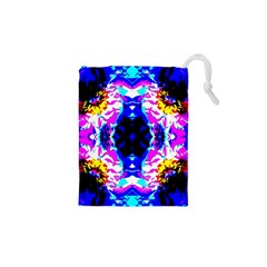Animal Design Abstract Blue, Pink, Black Drawstring Pouches (XS)