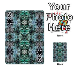 Green Black Gothic Pattern Playing Cards 54 Designs