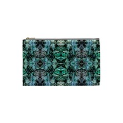 Green Black Gothic Pattern Cosmetic Bag (Small)