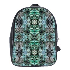 Green Black Gothic Pattern School Bags(Large)
