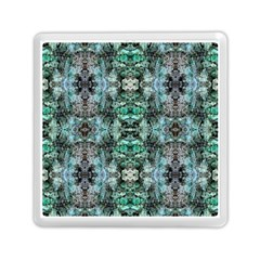 Green Black Gothic Pattern Memory Card Reader (Square)