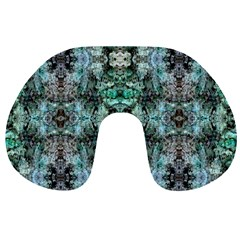 Green Black Gothic Pattern Travel Neck Pillows
