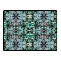 Green Black Gothic Pattern Double Sided Fleece Blanket (small)