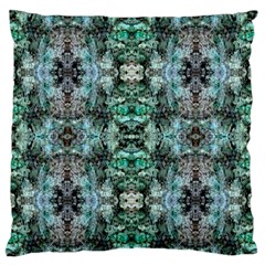 Green Black Gothic Pattern Large Flano Cushion Cases (One Side)