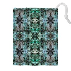 Green Black Gothic Pattern Drawstring Pouches (XXL)