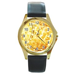Light Speed Round Gold Metal Watches