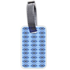 Pastel Blue Flower Pattern Luggage Tags (Two Sides)
