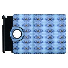 Pastel Blue Flower Pattern Apple iPad 3/4 Flip 360 Case
