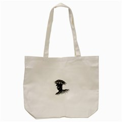 Cool Young Long Hair Man With Glasses Tote Bag (Cream)