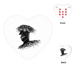 Cool Young Long Hair Man With Glasses Playing Cards (heart)