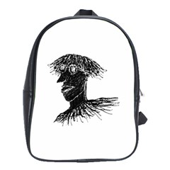 Cool Young Long Hair Man With Glasses School Bags(Large)