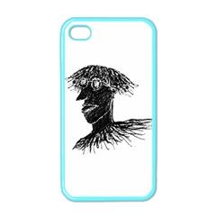 Cool Young Long Hair Man With Glasses Apple iPhone 4 Case (Color)