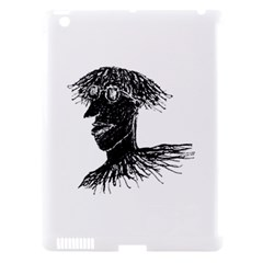Cool Young Long Hair Man With Glasses Apple iPad 3/4 Hardshell Case (Compatible with Smart Cover)