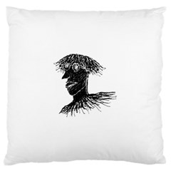 Cool Young Long Hair Man With Glasses Large Cushion Cases (two Sides)