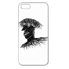 Cool Young Long Hair Man With Glasses Apple Seamless iPhone 5 Case (Clear)