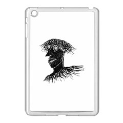 Cool Young Long Hair Man With Glasses Apple iPad Mini Case (White)