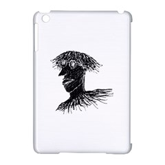 Cool Young Long Hair Man With Glasses Apple iPad Mini Hardshell Case (Compatible with Smart Cover)