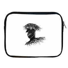 Cool Young Long Hair Man With Glasses Apple iPad 2/3/4 Zipper Cases