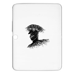 Cool Young Long Hair Man With Glasses Samsung Galaxy Tab 3 (10.1 ) P5200 Hardshell Case