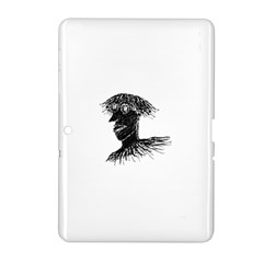 Cool Young Long Hair Man With Glasses Samsung Galaxy Tab 2 (10.1 ) P5100 Hardshell Case