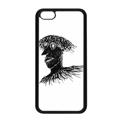 Cool Young Long Hair Man With Glasses Apple iPhone 5C Seamless Case (Black)
