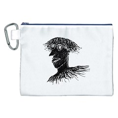 Cool Young Long Hair Man With Glasses Canvas Cosmetic Bag (xxl)