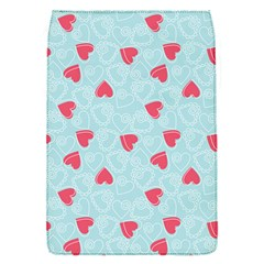 Valentine Hearts Pattern Light Blue Flap Covers (S)