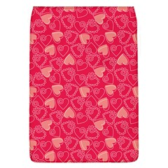 Red Pink Valentine Pattern With Coral Hearts Flap Covers (L)
