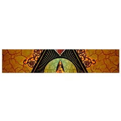 Surfing, Surfboard With Flowers And Floral Elements Flano Scarf (Small)