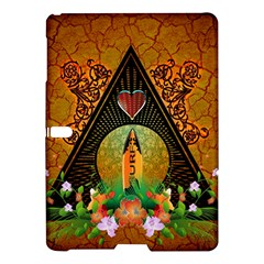 Surfing, Surfboard With Flowers And Floral Elements Samsung Galaxy Tab S (10.5 ) Hardshell Case