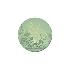 Wonderful Flowers In Soft Green Colors Golf Ball Marker (10 pack)
