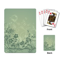 Wonderful Flowers In Soft Green Colors Playing Card