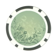Wonderful Flowers In Soft Green Colors Poker Chip Card Guards