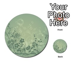 Wonderful Flowers In Soft Green Colors Multi Purpose Cards (round)