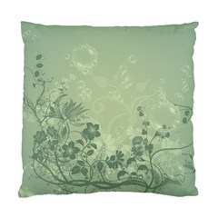 Wonderful Flowers In Soft Green Colors Standard Cushion Case (One Side)